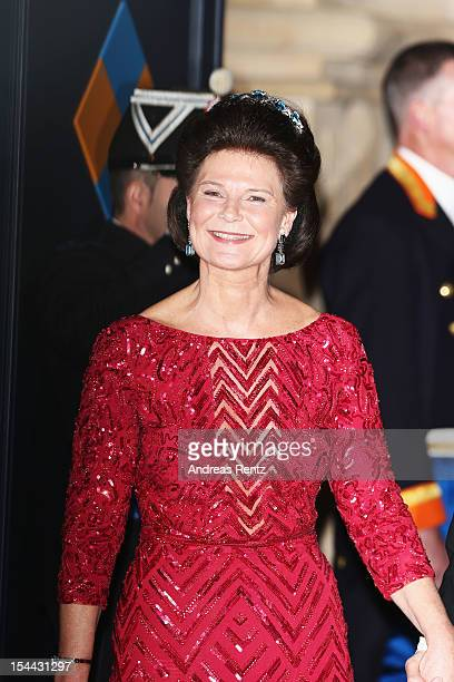 Princess Margaretha of Liechtenstein attends the Gala dinner for the wedding of Prince Guillaume Of Luxembourg and Stephanie de Lannoy at the...