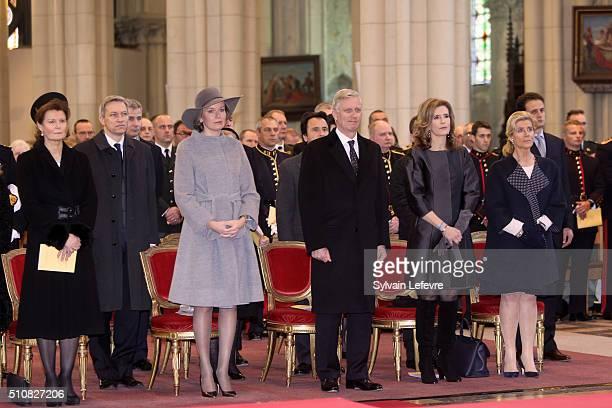 Princess Margaretha of Liechtenstein, Queen Mathilde of Belgium, King Philippe of Belgium, Princess Esmeralda of Belgium and Princess Lea of Belgium...