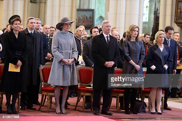 Princess Margaretha of Liechtenstein Queen Mathilde of Belgium King Philippe of Belgium Princess Esmeralda of Belgium and Princess Lea of Belgium...