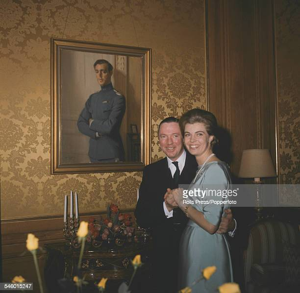 Princess Margaretha of Sweden and businessman John Ambler pictured after announcing their engagement at the Royal Castle in Stockholm, Sweden in...
