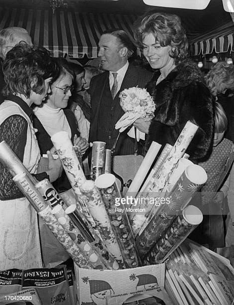 Princess Margaretha of Sweden and her husband John Ambler , opening the annual Swedish Christmas Fair being held at the Swedish Church Hall, London,...