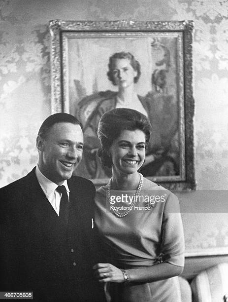Princess Margaretha of Sweden and John Ambler are officially engaged on February 02, 1964 in Stockholm, Sweden.