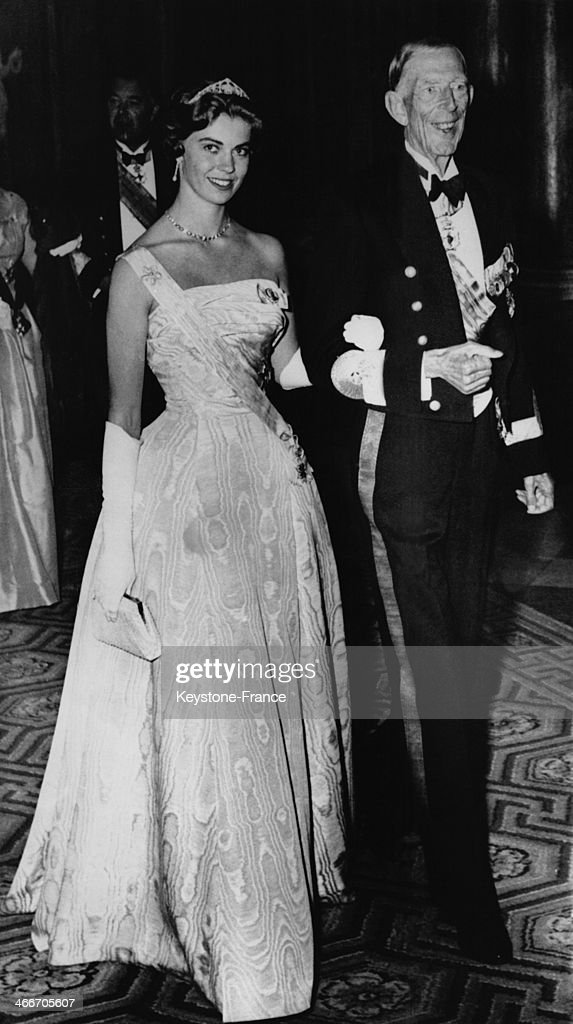 Princess Margaretha Of Sweden And Prince Wilhelm Arrive At The Gala Dinner In Honour Of Queen Wilhelmina And Prince Bernrhard Of The Netherlands : News Photo