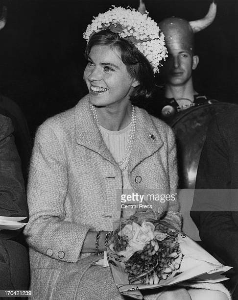 Princess Margaretha of Sweden is guest of honour at a 'Jer-Sea' fashion show being held at the Queen's Ice Skating Club, Bayswater, London, 16th...