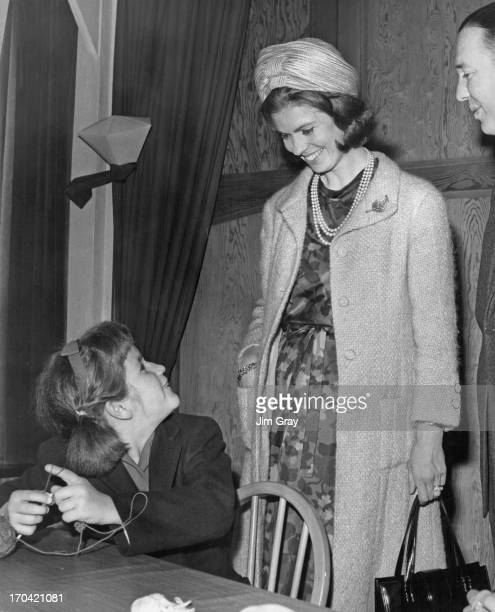 Princess Margaretha of Sweden opens the first hostel for children at the Peredur Training Centre, East Grinstead, East Sussex. In this picture...
