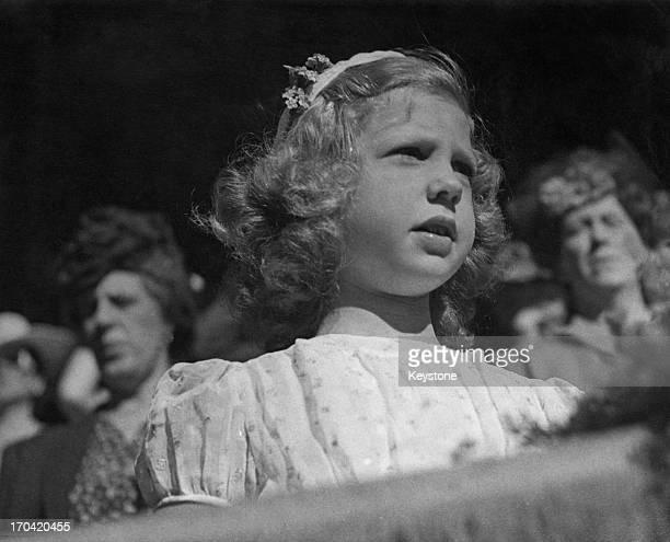 Princess Margaretha of Sweden seen here attending the Flag Day Parade, Stockholm Stadium, Sweden, 14th June 1945.