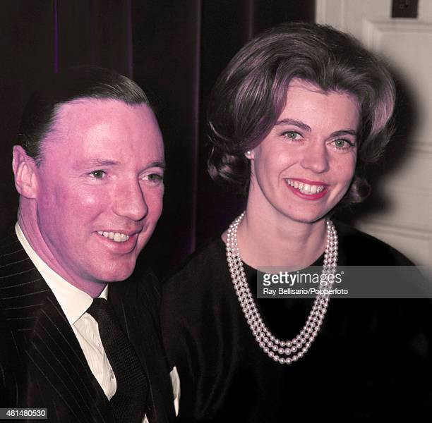 Princess Margaretha of Sweden with John Ambler, her future husband, at a press conference in London on 7th March 1964. The Princess was in London to...