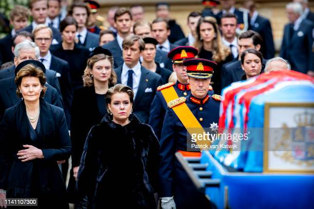 Princess Margarethe of Luxembourg Grand Duke Henri and Grand Duchess Maria Teresa of Luxembourg attend the funeral of Grand Duke Jean of Luxembourg...