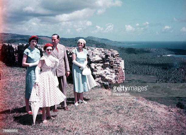 1955 Princess Margaret's Caribbean Tour Tobago Princess Margaret is pictured viwing the scenary