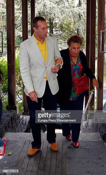 Princess Margarita and Alfonso Zurita attend Maria Zurita's 40 birthday on September 16 2015 in Madrid Spain