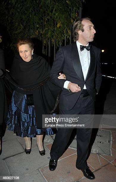 Princess Margarita and Alfonso Zurita attend Tiffany charity party on December 10 2014 in Madrid Spain