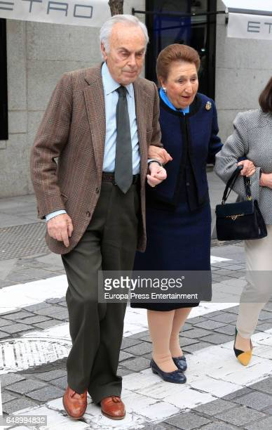 Princess Margarita and Carlos Zurita attend the Princess Margarita's 78th birthday Princess Margarita is the sister of King Juan Carlos on March 6...