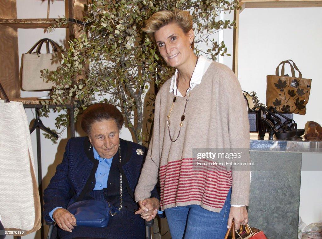Princess Margarita and her daughter Maria Zurita attend the charity market 'Rastrillo Nuevo Futuro' on November 20, 2017 in Madrid, Spain.