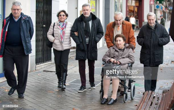 Princess Margarita and her husband Carlos Zurita are seen leaving a restaurant on January 7 2018 in Madrid Spain
