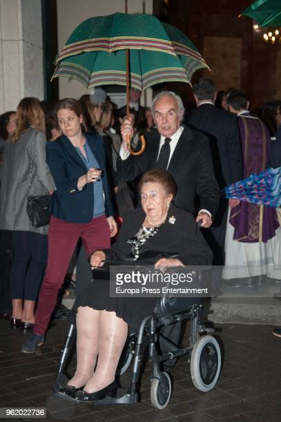Princess Margarita and her husband Carlos Zurita attend funeral chapel for Alfonso Moreno De Borbon cousin of King Felipe VI who died at 52 years old...