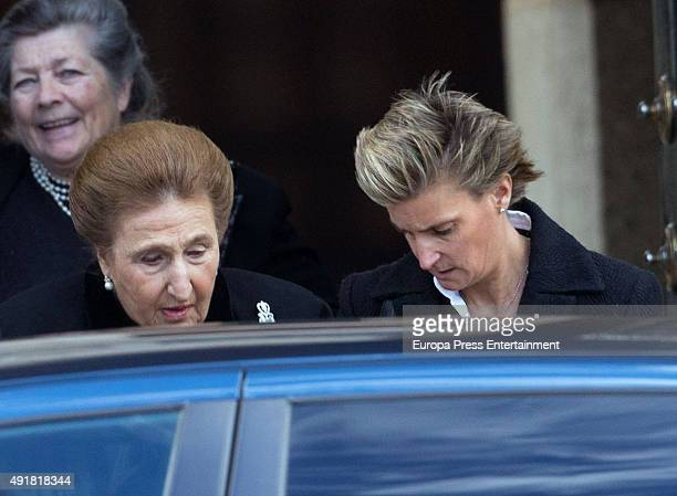 Princess Margarita and Maria Zurita attend the Corpore Insepulto mass for Carlos de Borbon Dos Sicilias second cousin of King Juan Carlos and Duke of...