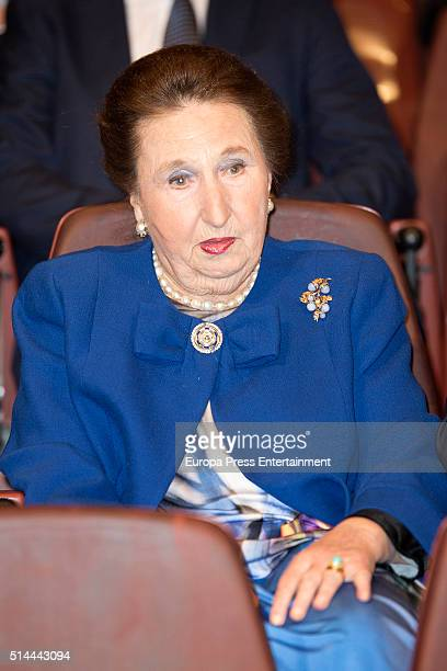 Princess Margarita attends 'Circulo Internacional Escuela Superior Musica Reina Sofia' meeting on March 8 2016 in Madrid Spain