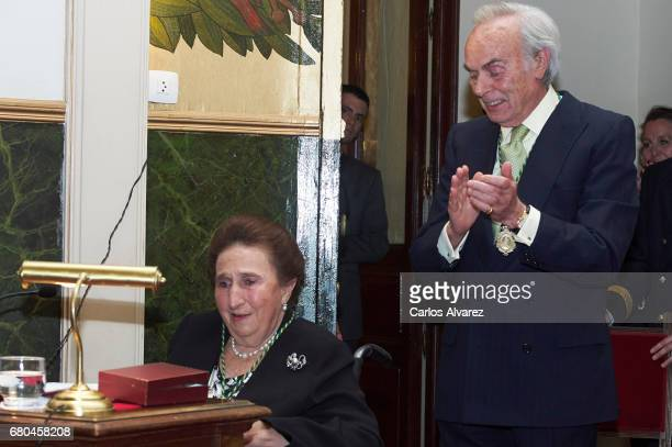 Princess Margarita de Borbon receives the Gold Medal of the Royal National Academy of Medicine at the Royal National Academy of Medicine on May 8...