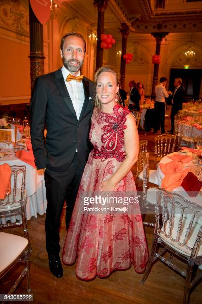 Princess Margarita de Bourbon de Parme and her husband Tjalling ten Cate attendss the benefit gala dinner for the Princess Maxima Center for...