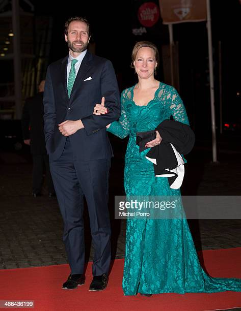 Princess Margarita de Bourbon de Parme and Tjalling ten Cate attend a celebration of the reign of Princess Beatrix on February 1 2014 in Rotterdam...