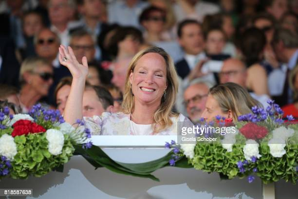 Princess Margarita de Bourbon de Parme, cousin of Willem Alexander of the Netherland during the media night of the CHIO 2017 on July 18, 2017 in...
