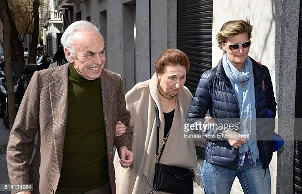 Princess Margarita her husband Carlos Zurita and their daughter Maria Zurita attend Princess Margarita's 77th birthday going for lunch in a...