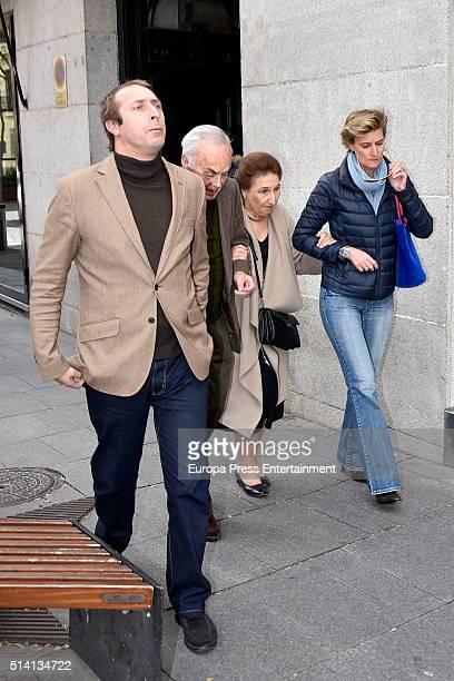 Princess Margarita her husband Carlos Zurita and their sons Alfonso Zurita and Maria Zurita attend Princess Margarita's 77th birthday going for lunch...
