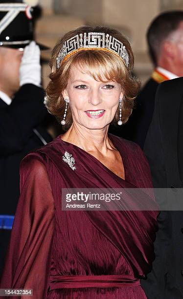 Princess Margarita of Romania attends the Gala dinner for the wedding of Prince Guillaume Of Luxembourg and Stephanie de Lannoy at the Grandducal...