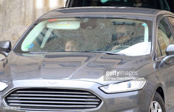 Princess Margarita of Spain attends Pilar de Borbon institutional funeral at El Escorial on January 29 2020 in El Escorial Spain
