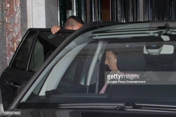 Princess Margarita of Spain attends the christening of Carlos Zurita jr son of Maria Zurita on September 17 2018 in Madrid Spain