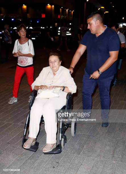 Princess Margarita of Spain is seen arriving at U2 concert on September 20 2018 in Madrid Spain