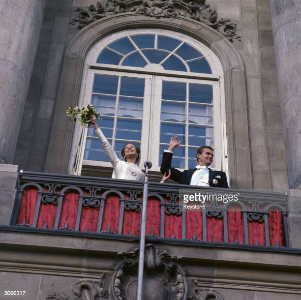 Princess Margrethe eldest daughter of King Frederick of Denmark marries French count Prince Henrik