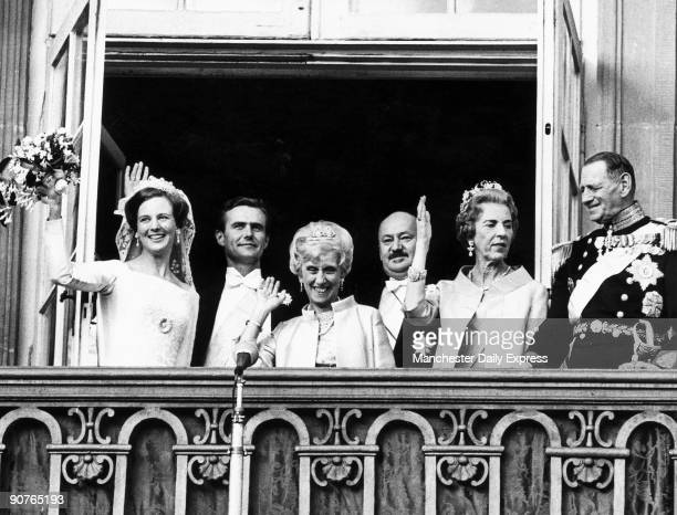 Princess Margrethe later Queen Margrethe II weds Prince Henrik in Copenhagen Prince Henrik was formerly French diplomat Count Henri de Monpezat
