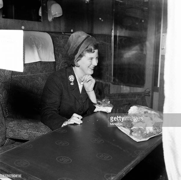 Princess Margrethe of Denmark arrives in London to study at Cambridge. 2nd October 1960.