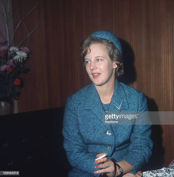 Princess Margrethe of Denmark during a visit to Japan in 1963