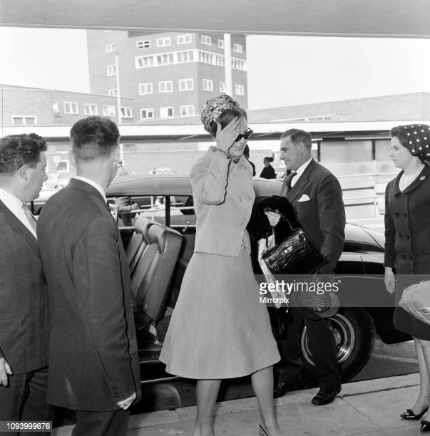 Princess Margrethe of Denmark leaving London Airport for Copenhagen. 29th April 1966.