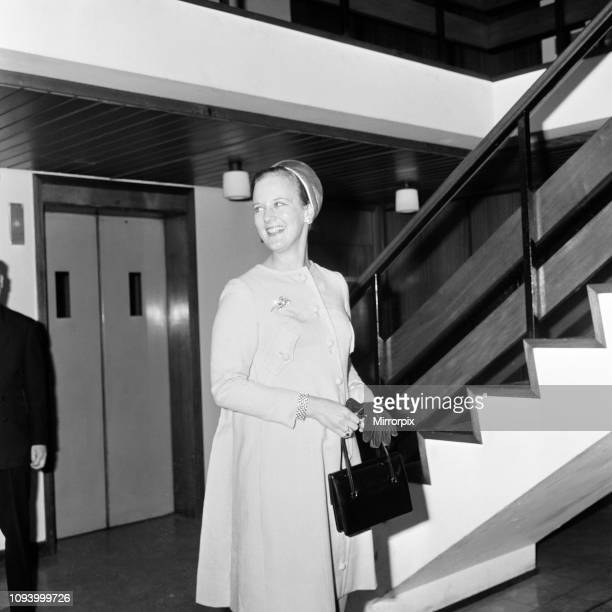 Princess Margrethe of Denmark visits the Owens Park Hall of residence, Wilmslow Road, Manchester. September 1968.