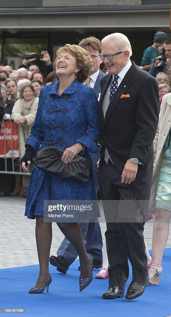 Princess Margriet and Pieter van Vollenhove attend the wedding of Prince Jaime de Bourbon Parme and Viktoria Cservenyak at The Church Of Our Lady At Ascension on October 5, 2013 in Apeldoorn, Netherlands.