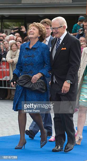 Princess Margriet and Pieter van Vollenhove attend the wedding of Prince Jaime de Bourbon Parme and Viktoria Cservenyak at The Church Of Our Lady At...