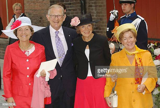 Princess Margriet her husband Pieter Van Vollenhoven sister Princess Irene and sister Princess Christina leave the Christening of baby girl...