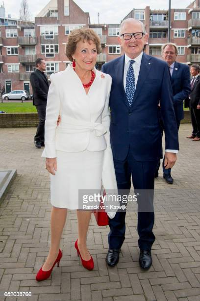 Princess Margriet of the Netherlands and her husband Pieter van Vollenhoven attend the opening of the exhibition of Canadian Inuit Art in the...