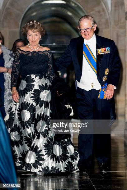 Princess Margriet of The Netherlands and her husband Pieter van Vollenhoven leave the Royal Palace Amsterdam after the Gala diner for the Corps...