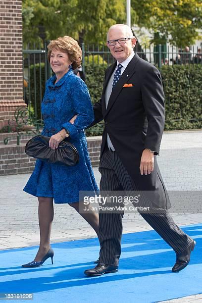 Princess Margriet of the Netherlands and husband Pieter van Vollenhoven attend the wedding of HRH Prince Jaime de Bourbon Parme and Viktoria...