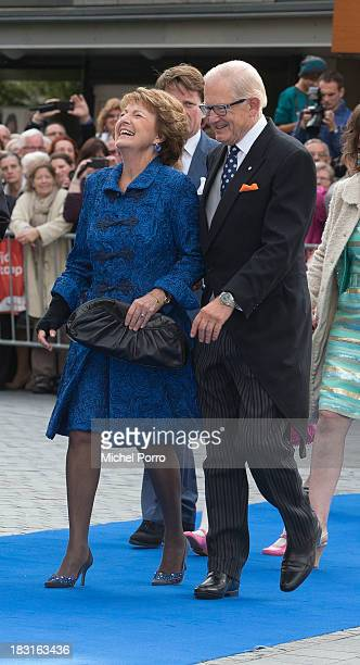 Princess Margriet of The Netherlands and Pieter van Vollenhove attend the wedding of Prince Jaime de Bourbon Parme and Viktoria Cservenyak at The...
