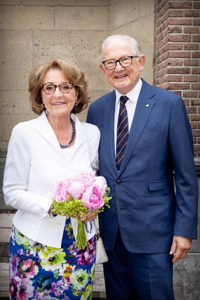 NLD: Princess Margriet Of The Netherlands And Pieter van Vollenhoven Visit Farewell College In Nijmegen