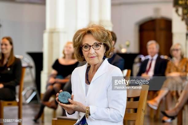 Princess Margriet of The Netherlands attends the farewell lecture of professor Keunen on June 4, 2021 in Nijmegen, Netherlands.