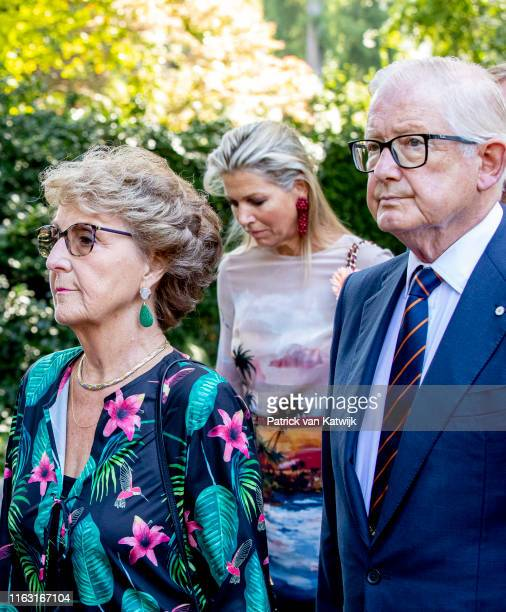 Princess Margriet of the Netherlands Queen Maxima of The Netherlands and Pieter van Vollenhoven attend the funeral of Princess Christina at the Royal...