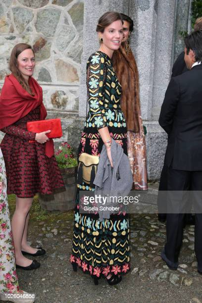 Princess Maria Astrid of Liechtenstein during the wedding of Prince Konstantin of Bavaria and Princess Deniz of Bavaria born Kaya at the french...