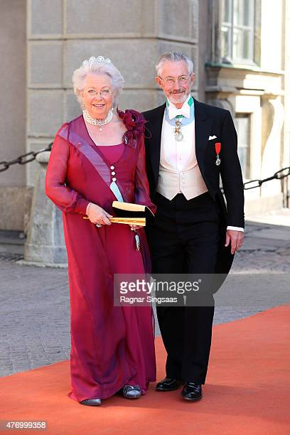 Princess Maria Christina of the Netherlands and Tord Magnuson attend the royal wedding of Prince Carl Philip of Sweden and Sofia Hellqvist at The...