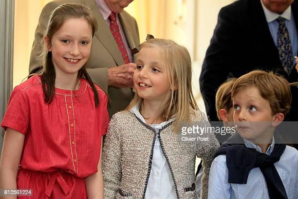 Princess Maria Laura Princess Laetitia Maria Princess Louise Princess Astrid of Belgium King Albert II of Belgium Prince Nicolas Princess Claire of...